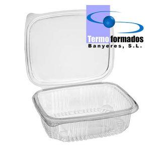 tarrina-bisagra-transparente-2000-cc-pet-abierta-termoformados-banyeres-envase-plastico